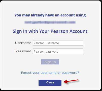 You may already have an account using this email Address