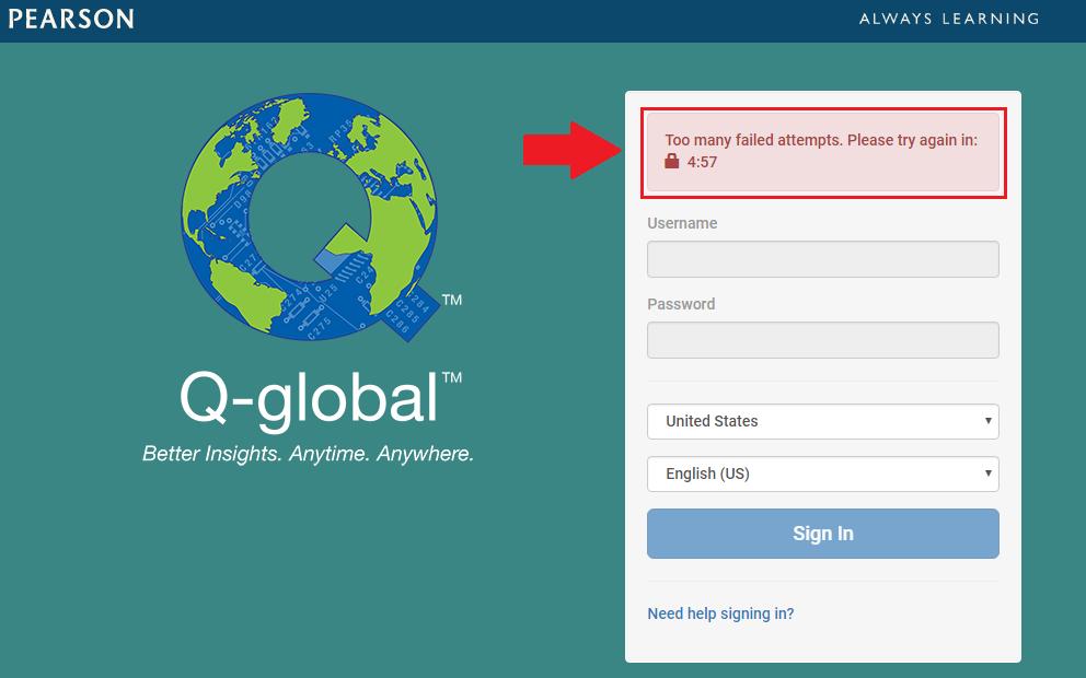 q global log in
